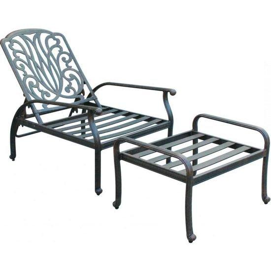 Metal garden chair with footrest shakunt impex pvt. ltd. treniq 1 1494670409291