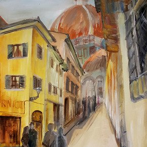 A-Walk-In-Florence-Painting_Lanagraphic_Treniq_0