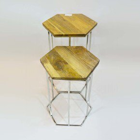 Hexagon-Table-Set-Of-Two_Home-N-Earth_Treniq_0