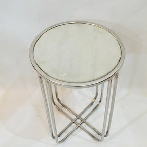 Round-Table-With-White-Marble-Set-Of-Two_Home-N-Earth_Treniq_0