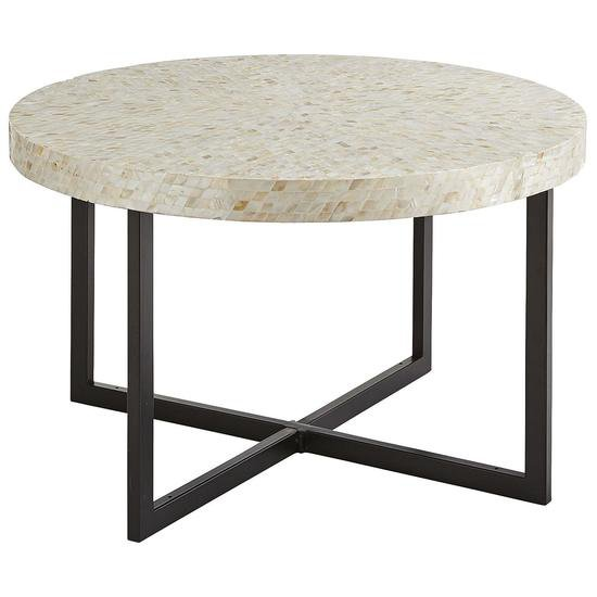 Round top mother of pearl coffee table shakunt impex pvt. ltd. treniq 1 1495784882063