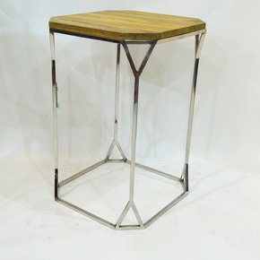Blond Edge Square Table - Set of Two