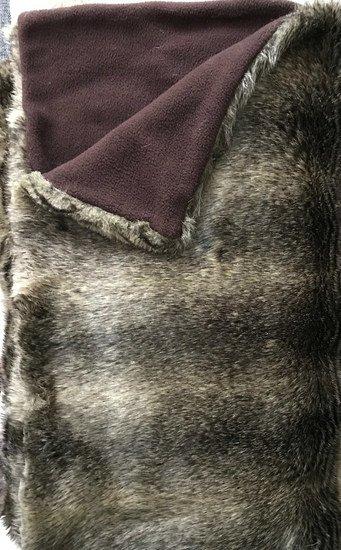 Mink fur throw  brown  the pink elephant treniq 1 1496213331169