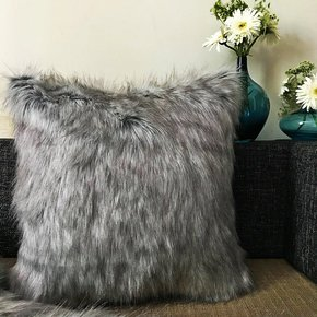 Fox-Fur-Cushion-Cover-Grey-_The-Pink-Elephant_Treniq_0