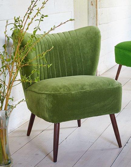 The new bartholomew cocktail chair in linwood grass omega velvet galapagos  treniq 1 1496219272702