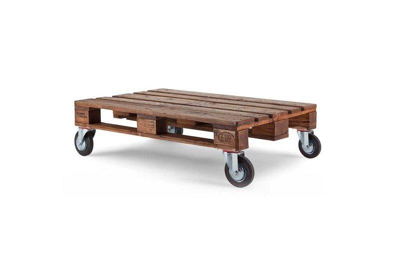 Reclaimed Wood Pallet Coffee Table With Wheels Sha Impex Pvt Ltd Treniq 1