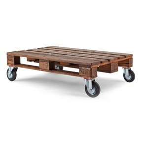 Reclaimed Wood Pallet Coffee Table With Wheels