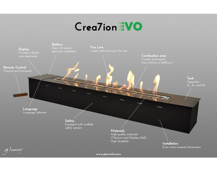 Bioethanol evo 400mm remote  flame by design treniq 1 1496327254425