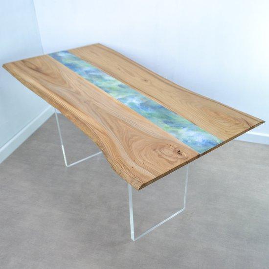 Resin art dining table frances bradley treniq 6 1497474889465