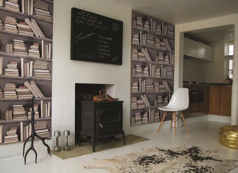 Vintage bookshelf wallpaper mineheart treniq 1 1497553732791