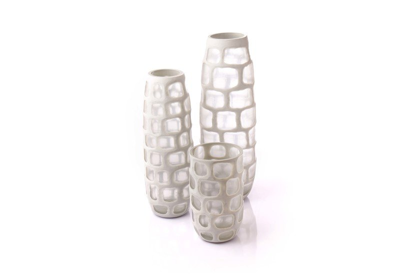 Opaque glass vase set of 3 eclat decor  treniq 1 1498045086911