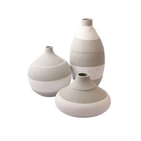 Round-&-Bottle-White-&-Grey-Vase-Set-Of-3_Eclat-Decor-_Treniq_0