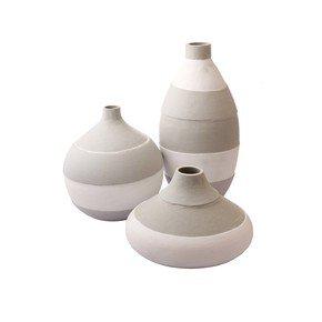 Round-&-Bottle-White-&-Grey-Vase-Set-Of-3_Eclat-Decor-_Treniq_0