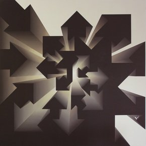 """Fibonacci-Nautilus-Inverse-Beige""-By-Lakshmi-Mohanbabu_Addicted-Art-Gallery_Treniq_0"