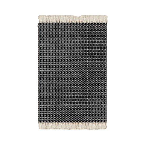 Floor rug black and white knit print design beryl phala limited treniq 1 1498492036821
