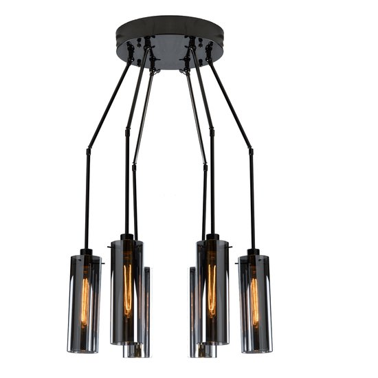 Marcello adjustable chandlier   black nickel gilded home treniq 1 1498495666483