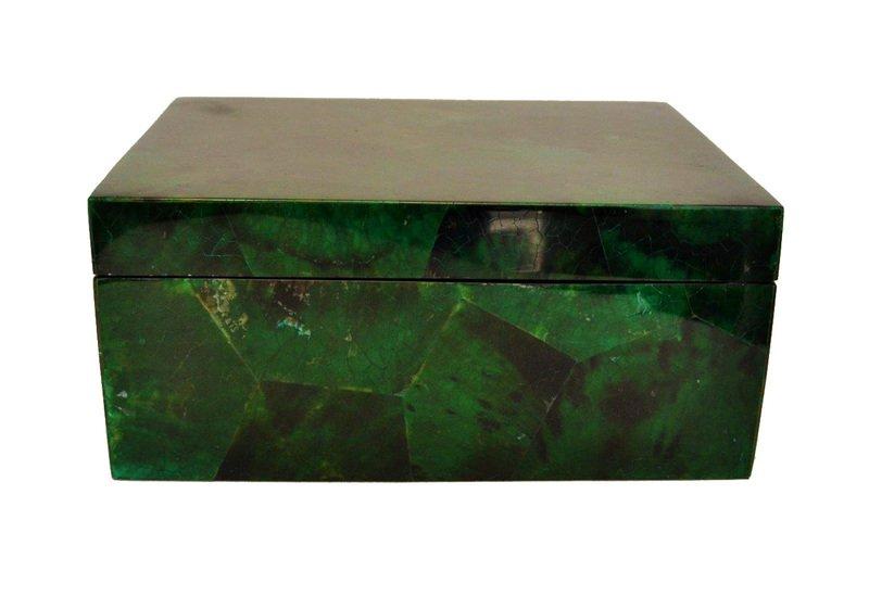Emerald green penshell box gilded home treniq 1 1498498437551