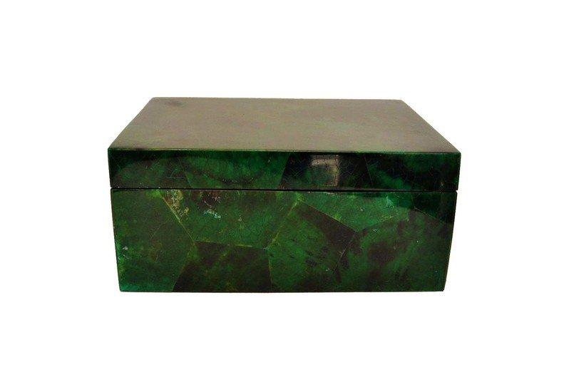 Emerald green penshell box gilded home treniq 1 1498498437554