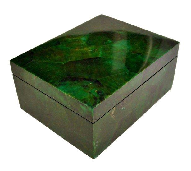Emerald green penshell box gilded home treniq 1 1498498437552