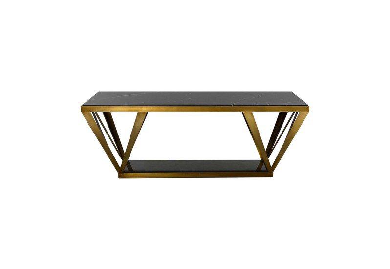 Hudson Coffee Table | Black Marble_Gilded Home_Treniq_0
