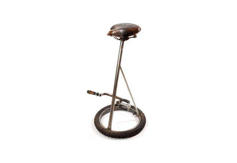 Amazing Vintage Industrial Bicycle Pedal Barstool Evergreenethics Interior Chair Design Evergreenethicsorg