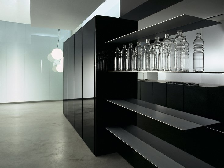 Units Kitchen Black Contemporary By Minimal Cucine Treniq