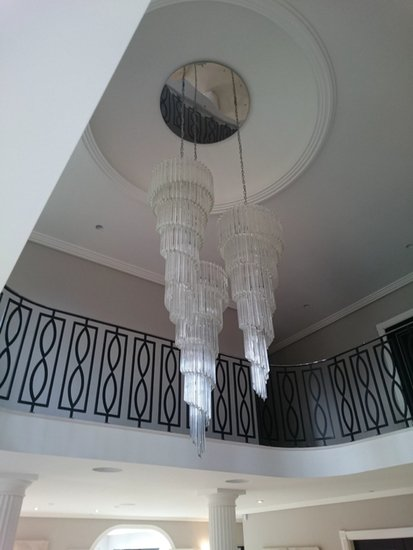 Triple prism chandelier mallory custom lighting treniq 1 1498826595431