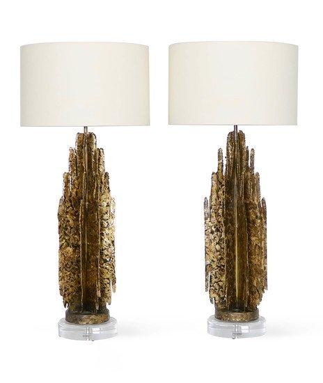 Monumental mcm brutalist pair of lamps  paul evans manner sergio jaeger treniq 1 1499083060563