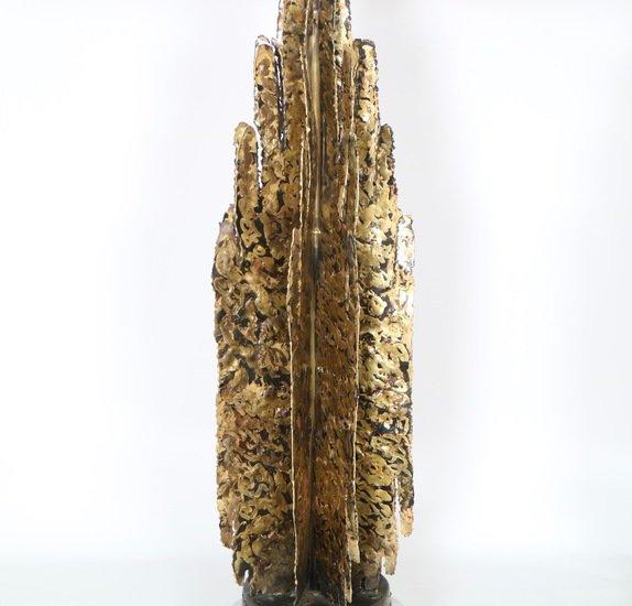 Monumental mcm brutalist pair of lamps  paul evans manner sergio jaeger treniq 1 1499083060565