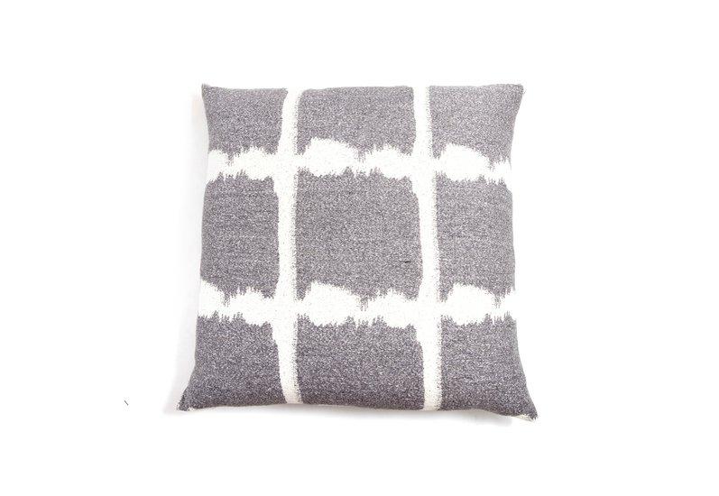 Textured ikat jacquard floor cushion beatrice larkin treniq 1 1499273841814