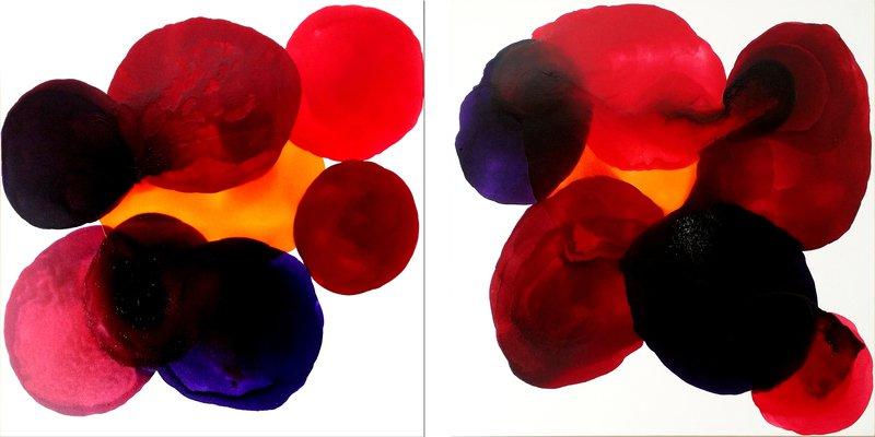 Glass circles   2 canvases ritzi art treniq 1 1499348181463