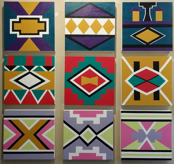 Ndebele collage ritzi art treniq 1 1499356002281