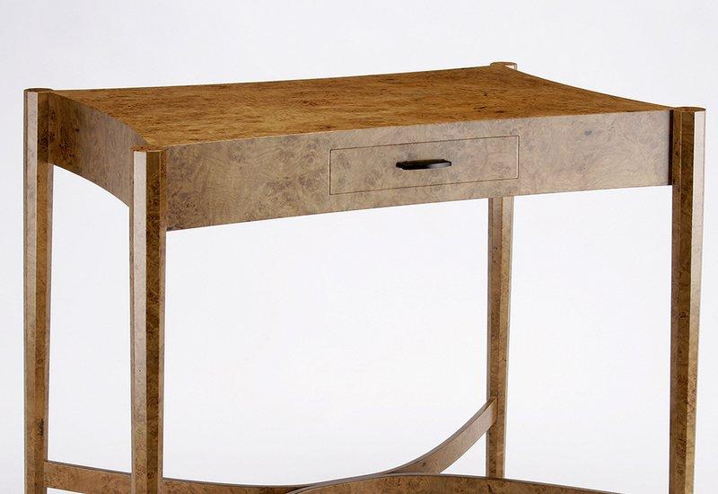 Burr oak side table philip dobbins 3