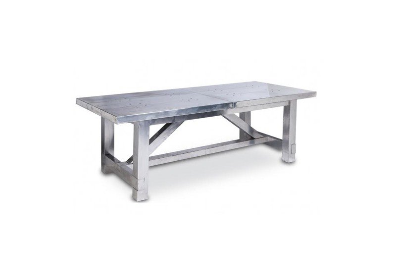 Vintage finish aviator aluminium dining table shakunt impex pvt. ltd. treniq 1 1499410428738
