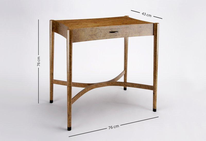 Burr oak side table philip dobbins 5
