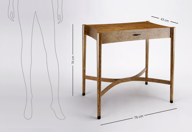 Burr oak side table philip dobbins 6