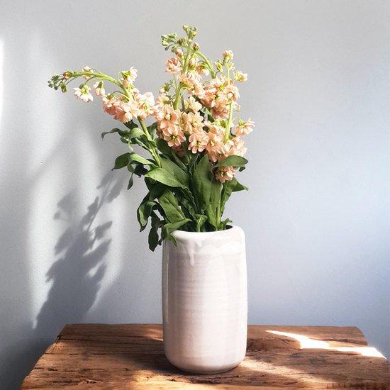 White Cylinder Vase White Ceramic Scandinavian Vases Bowls
