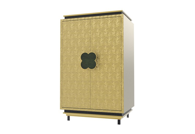Happy clover limited edition cabinet rose brass mari ianiq treniq 1