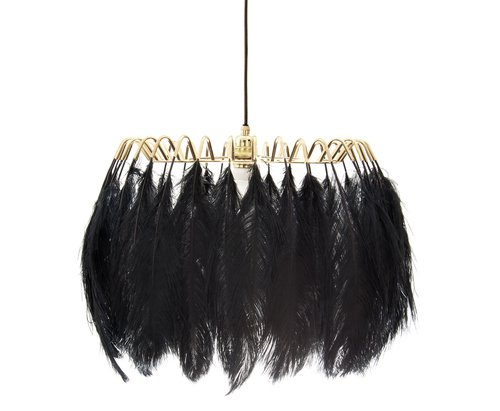 Feather pendant lamp black mineheart treniq 1 1500477300267