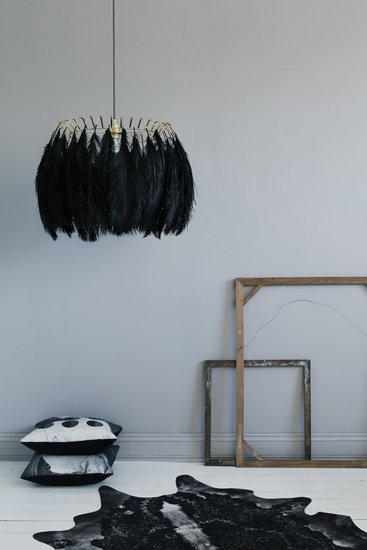 Feather pendant lamp black mineheart treniq 1 1500477340921