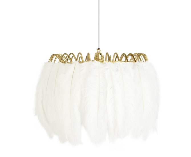 Feather pendant lamp white mineheart treniq 1 1500477554778