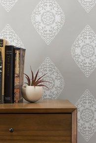 Boteh Wallpaper - Grey