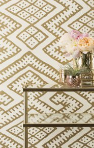 Kilim Wallpaper - Gold