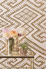 Kilim Wallpaper - Blush