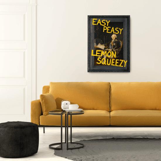 Easy peasy lemon squeezy canvas print prince   rebel treniq 1 1500656490580