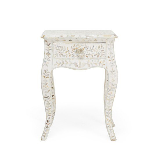 Mother of pearl single drawer bedside table shakunt impex pvt. ltd. treniq 1 1501142510334