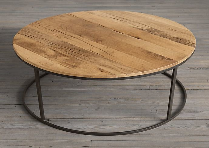 Reclaimed wood round top coffee table shakunt impex pvt. ltd. treniq 1 1501489055826