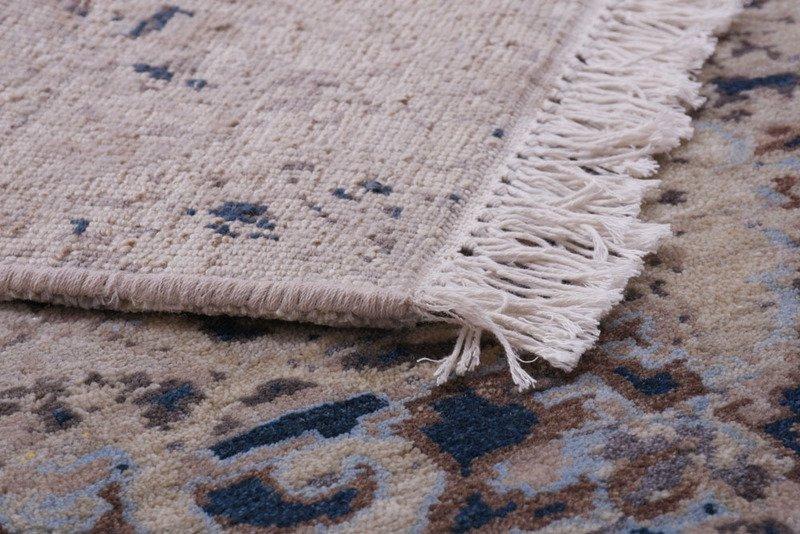 Transitional hand knotted wool viscose rugs carpet overseas treniq 1 1501827276461