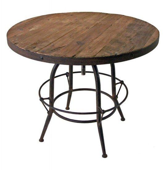 Reclaimed wood top industrial dining table shakunt impex pvt. ltd. treniq 1 1501918208030