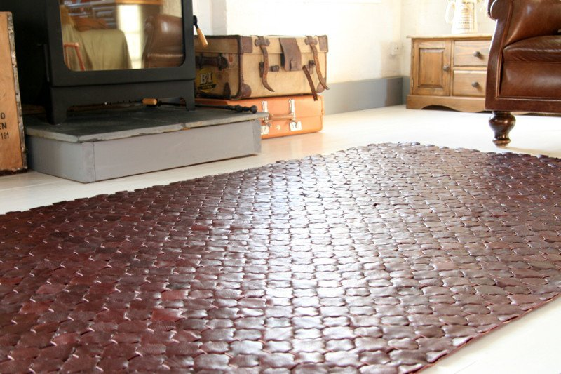 Rescued shiraz leather rug   large 146 x 242 elvis   kresse treniq 1 1502116783834